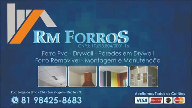 Forro PVC e DRYWALL