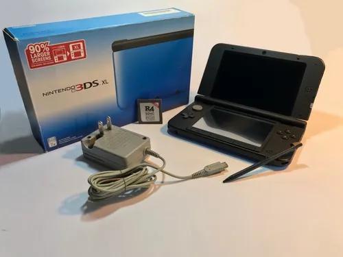 Nintendo 3ds Xl Azul + Cartucho Com 400 Jogos De Bônus