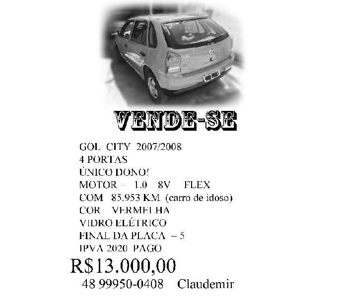 Vendo GOL 20072008 único dono