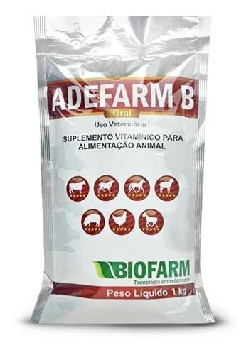 Ade Pó Adefarm 1 Kg - Biofarm (Aves, Equinos E Bovinos)