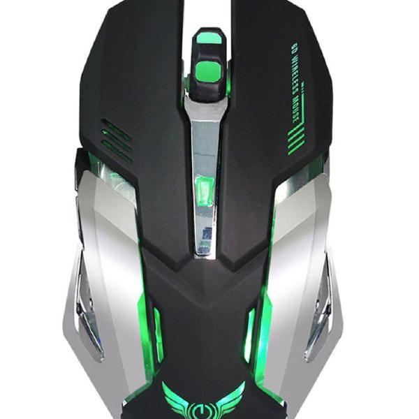 Mouse gamer sem fio 6 botões 2400dpi bateria Recarregável