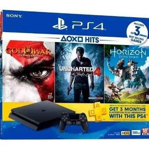 ps4 playstation 4 slim 500 gb 3 jogos pronta entrega a12368