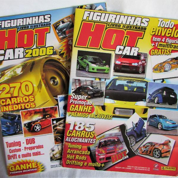 lbum de figurinhas hot cars 2005 e 2006