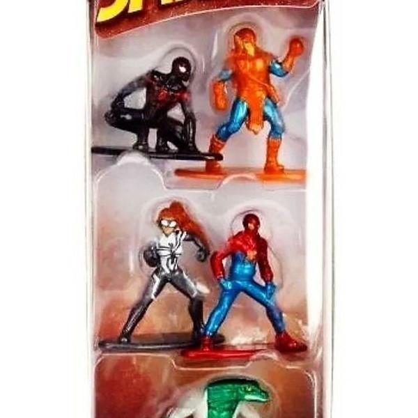 5 metalfigs do homem aranha, spider man boneco em miniatura