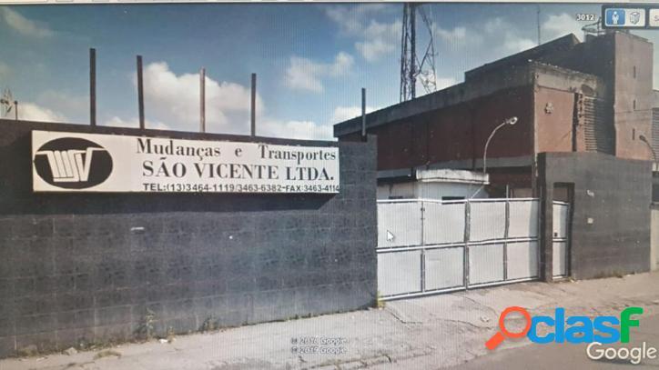 Galpão/Terreno com 1.800m² na Frei Gaspar/ São Vicente