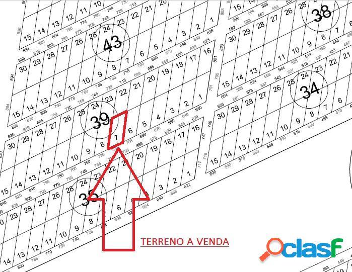Terreno com 375,00 m² - Rosa dos Ventos