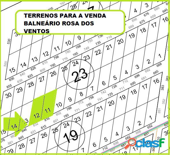 Terrenos para a Venda Rosa Dos Ventos 375m².