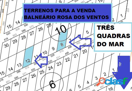 Terrenos paras a Venda Balneário Rosa Dos Ventos 375m²