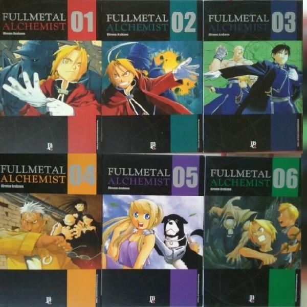 Vendo Mangá Fullmetal Alchemist 1 a 6 R$ 70,00