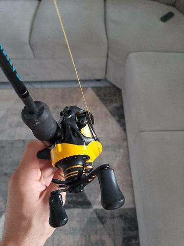 Carretilha e vara de pesca top