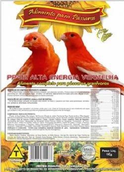 Farinhada Pássaros Pp-22 Alta Energia Vermelha 1 Kg Protein