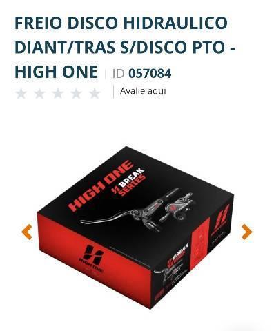 Freio a Disco Hidráulico Diant/Tras Sem Disco High One R$