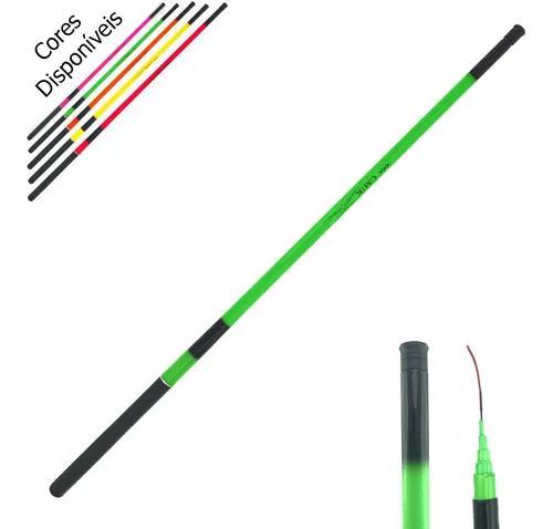 Kit Pesca 2 Varas De Mão 3m 40% Carbono - 7lbs Fluorescente