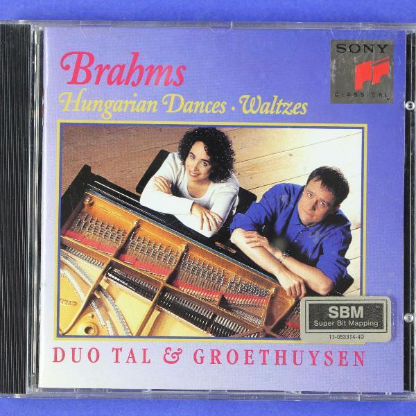 cd . brahms . hungarian dances . waltzes . duo tal &