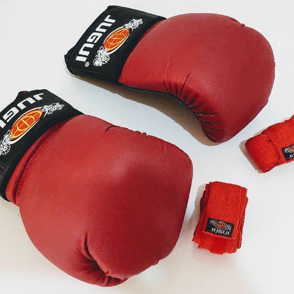 luva de boxe jugui + bandagem
