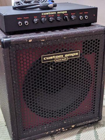 Amplificador de Contrabaixo + Cabeçote Custom Amps