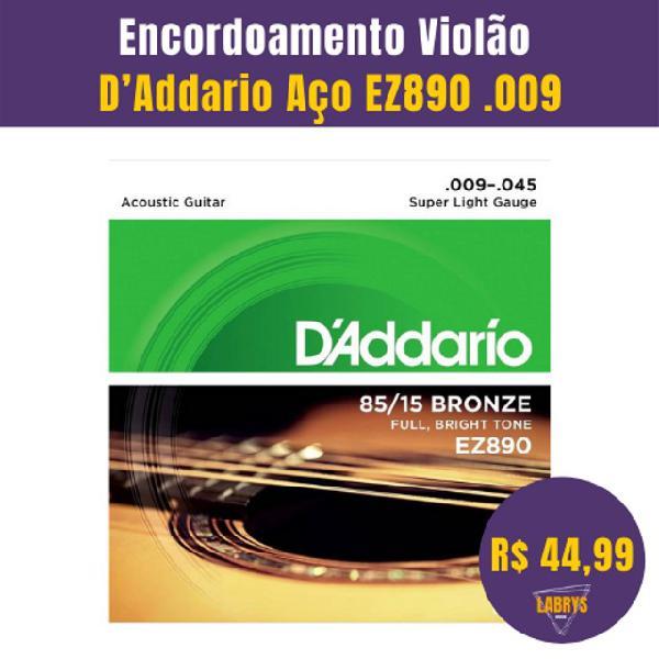 Encordoamento Violão D?Addario Aço EZ890.009