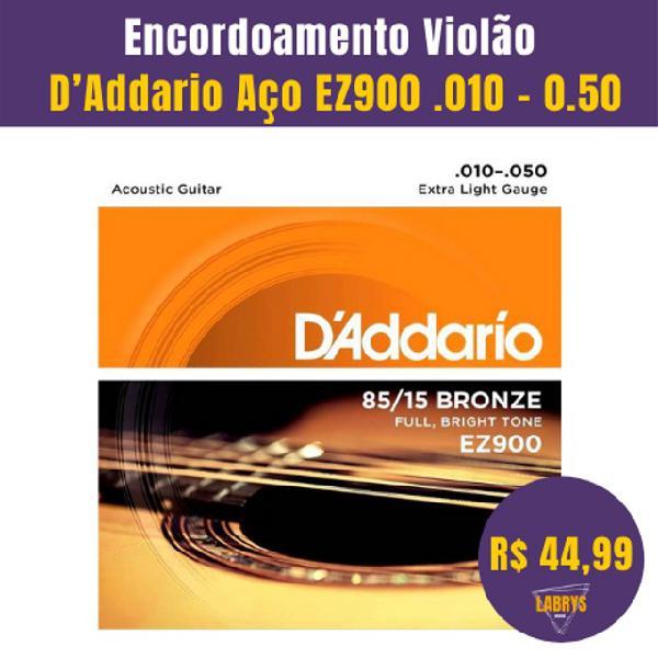 Encordoamento Violão D?Addario Aço EZ900.010 ? 0.50