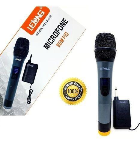 Microfone Sem Fio Lelong Le-909 Profissional Top Quality