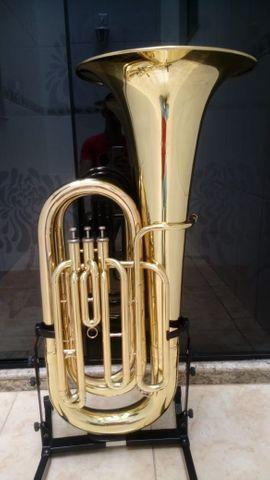 Tuba Bombardão 4/4 Weril Bentley Sib - Laqueada - Aceito