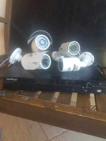 Receptor de câmeras Intelbras + 4 cameras