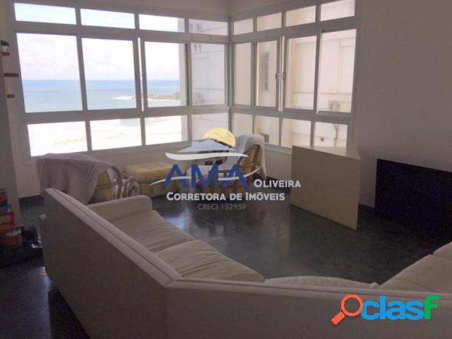 Apartamento frente ao Mar Pitangueiras, 3 dormitórios com