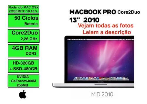Apple Macbook Pro Intel Core 2 Duo Hd 320 Gb + Ssd 480 Gb