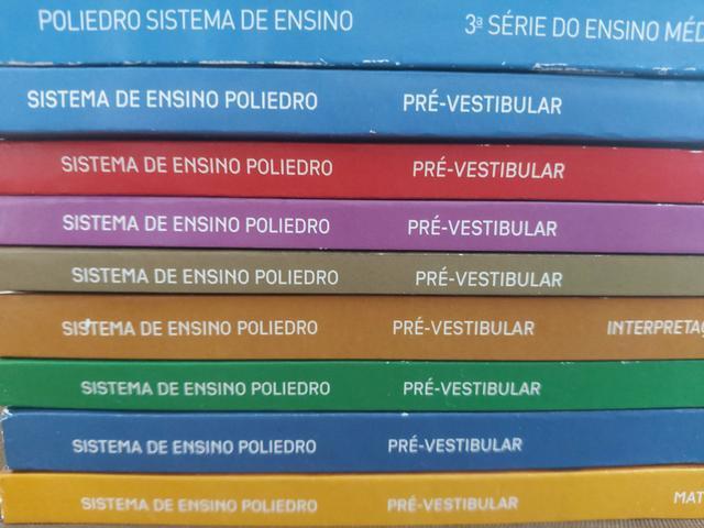Kit 36 livros pré vestibular Poliedro