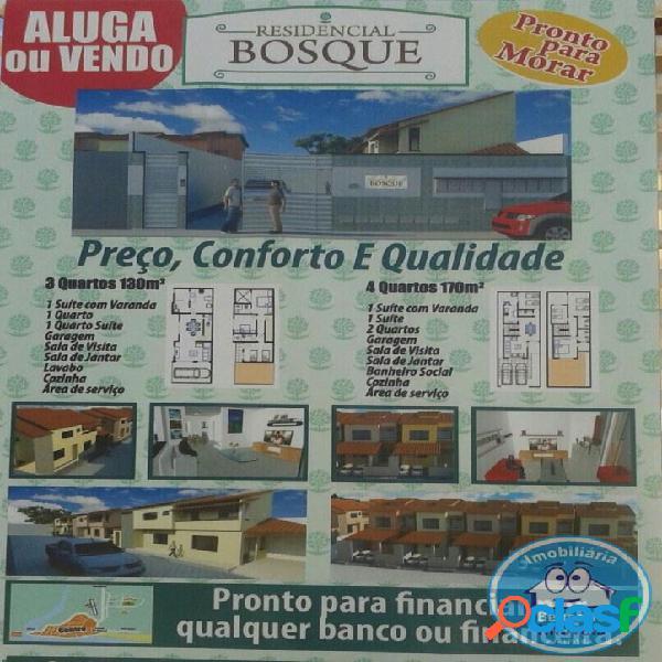 VENDO CASA NOVA COM 4/4 EM CONDOMÍNIO FECHADO,BEM
