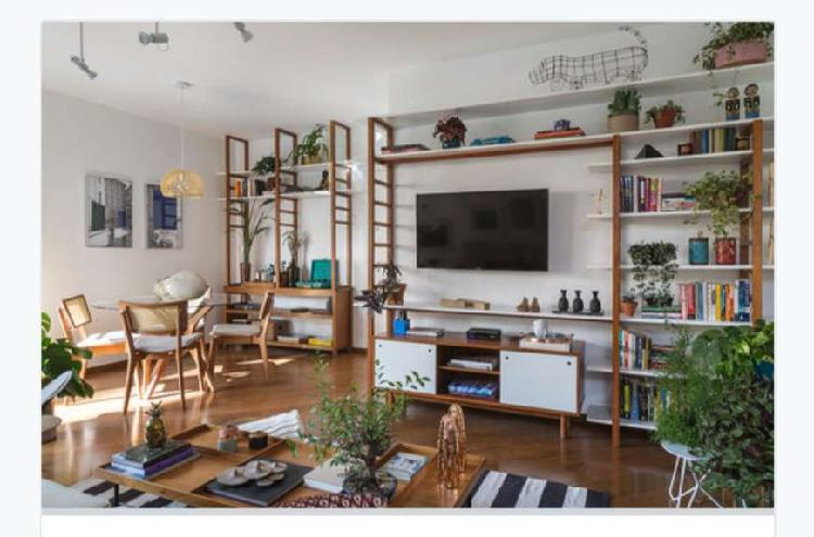 Apartamento reformado com 107m2, 3 quartos em Pinheiros -