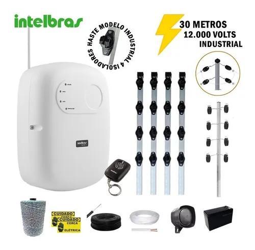 Kit Cerca Elétrica Industrial Intelbras 30 Metros C/ Alarme