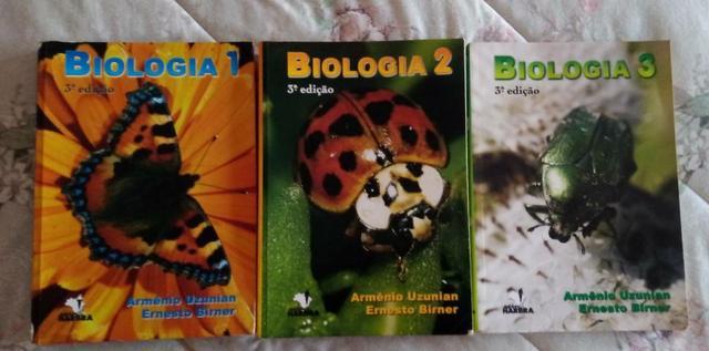 Livros de biologia - Uzunian e Birner