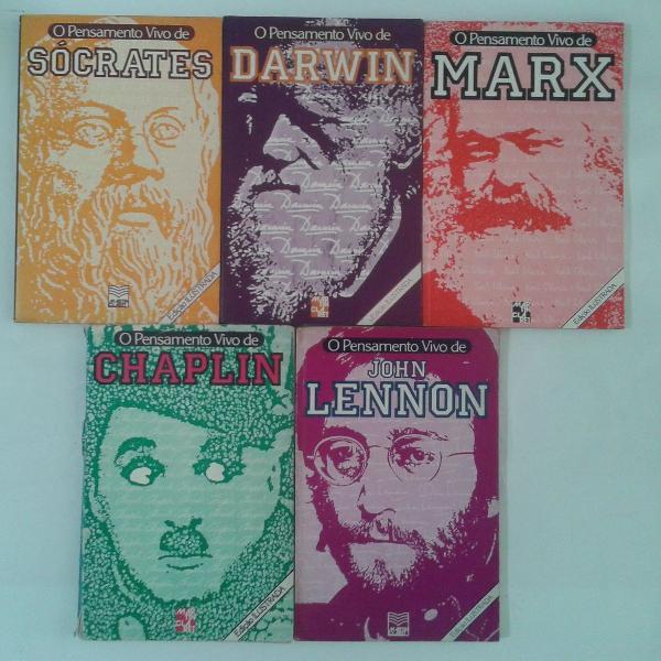 coleção o pensamento vivo - 5 volumes - lennon / chaplin /