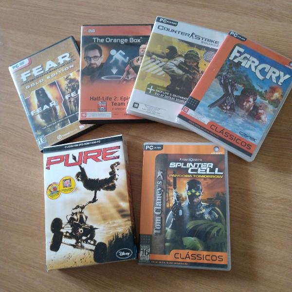kit com mais de 5 jogos para PC todos originais e com manual