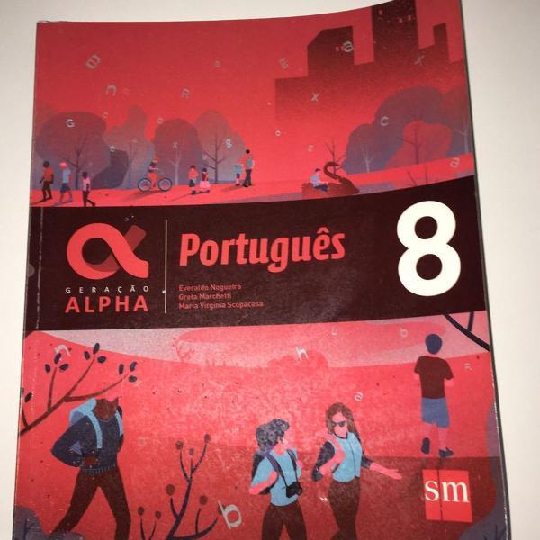 livro escolar de português 8º ano usado
