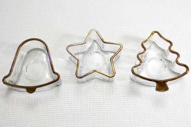 3 Tigelas em Vidro filetado em Ouro - Novas! Nunca Usadas!