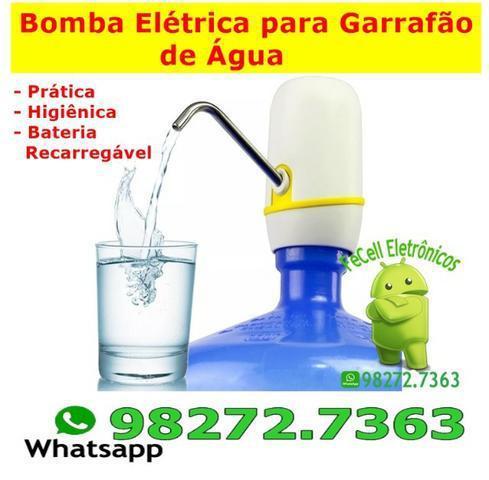 Bomba Elétrica P/ Galão De Água Recarregável Usb Exbom