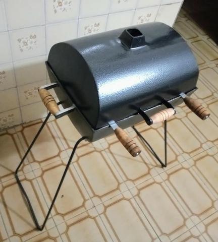 Churrasqueiras a bafo de alumínio fundido