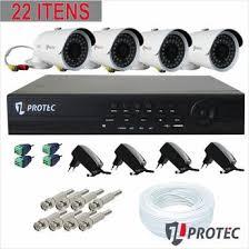 Kit 4 Câmeras de monitoramento real time celular instalada