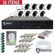 Kit de 8 câmeras monitoramento real time instalada
