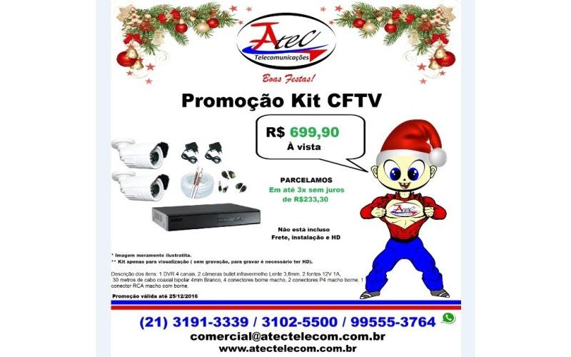 Super Promoção de Natal Kit CFTV