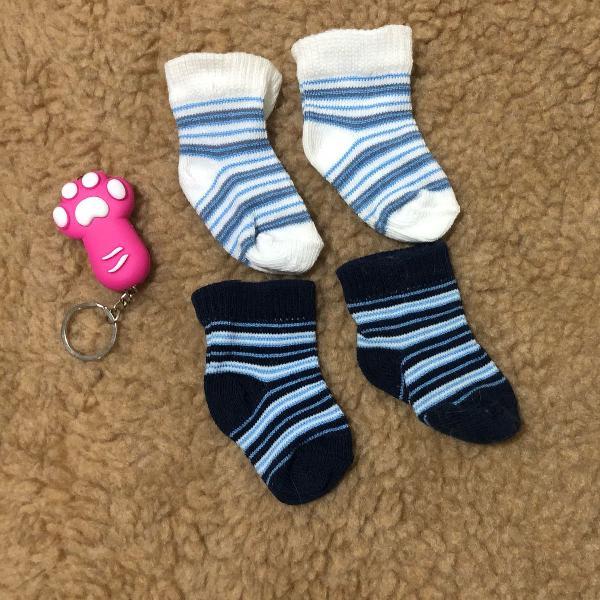 conjunto 4 meias pets cachorro gato