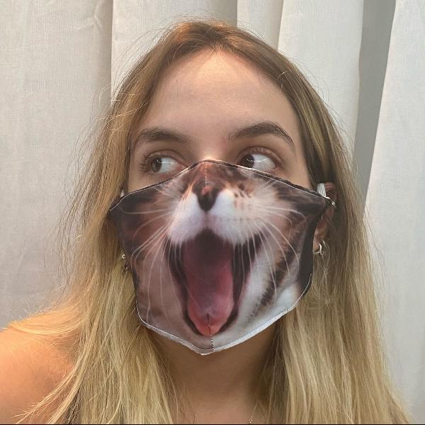 máscara divertida gatinha top