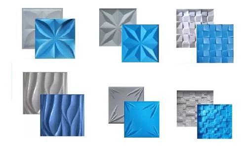 6 Formas Para Gesso 3d De Abs C/ Plástico Eva 30x30 Cms, Br