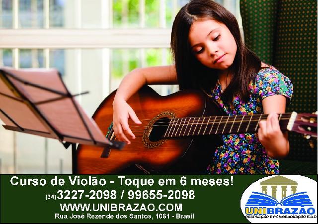 Aulas de violão Uberlândia -Toque em 6 Meses