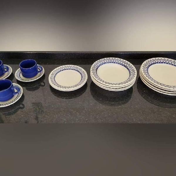 Conjunto de pratos Biona Oxford Antigo