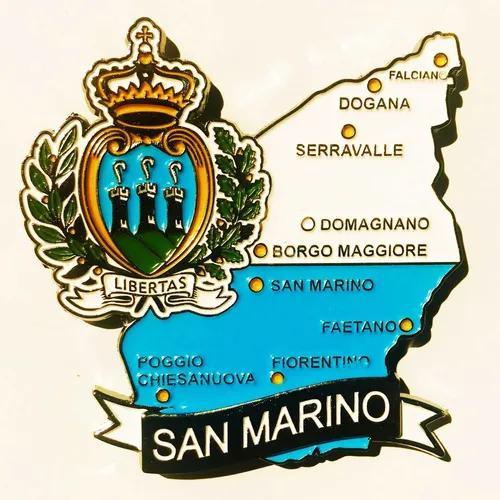 Imã San Marino - Mapa San Marino Bandeira Cidades Símbolos