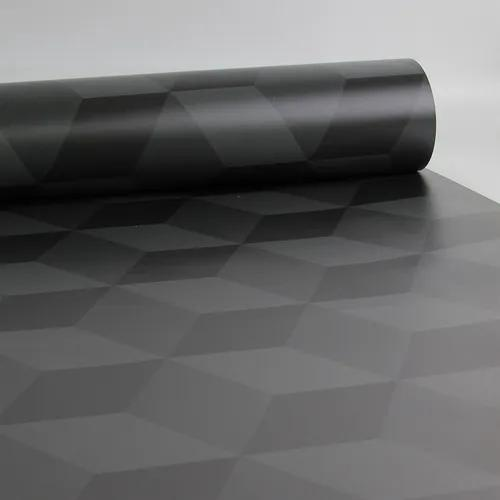 Papel De Parede Cubo 3d Classic Preto 0,58x3,00m