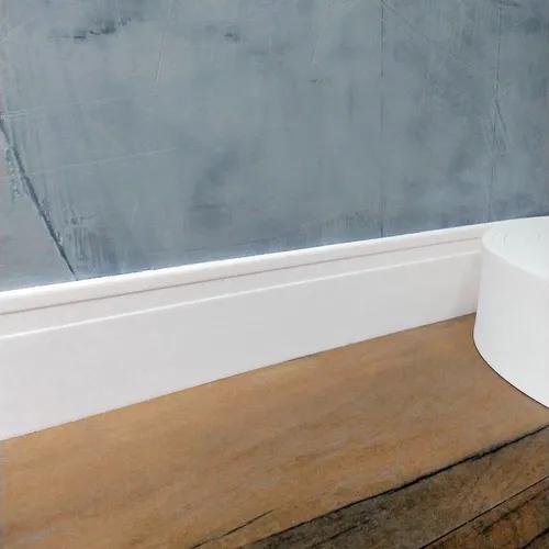 Rodapé Flexível Autocolante 10cm X 2cm - 125 Metros