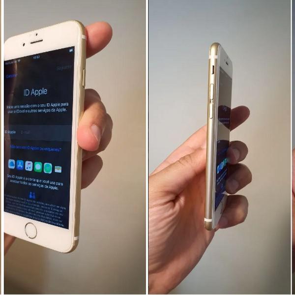 iphone 6s 32 gb gold - bateria ok + brinde